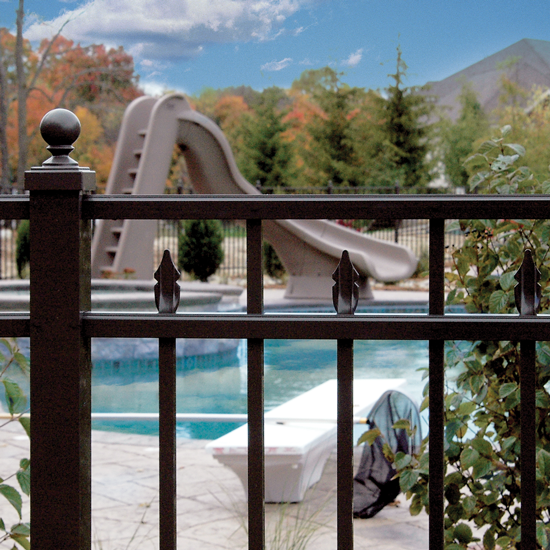 "54"" Styles UAF-200 & 250 Flush Bottom ULTRA Aluminum Pool Fence"