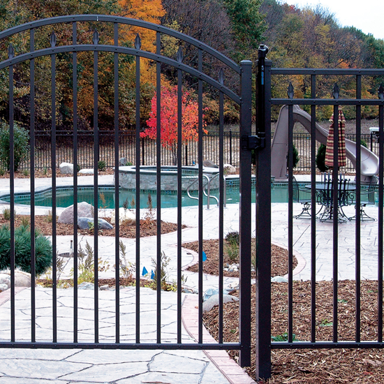 "D: Style UAF-250 in Height  36"" to 72"" Tall - Ultra Aluminum Fence"