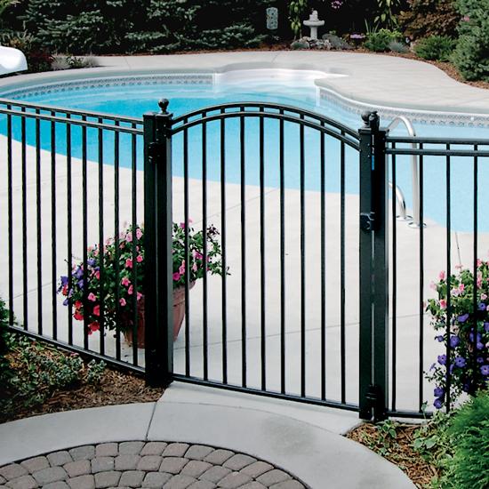 "48"" ULTRA UAB-200 The Only 3 rail Ultra Aluminum Pool Fence"