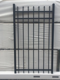 5 ft tall x 3 ft wide picket top Aluminum Gate
