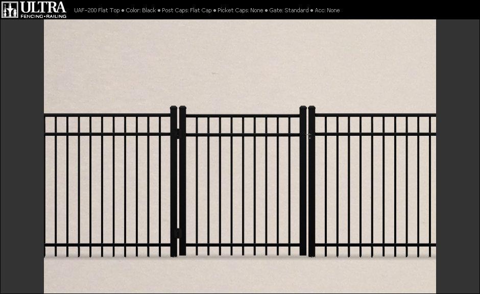 Fence City 72 Quot Style Quot Ex Quot Flat Top 3 Rail Industrial Fence