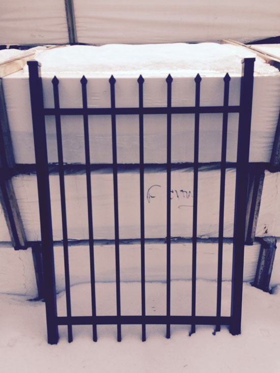 4 ft x 3 ft Aluminum Gate 2 rail