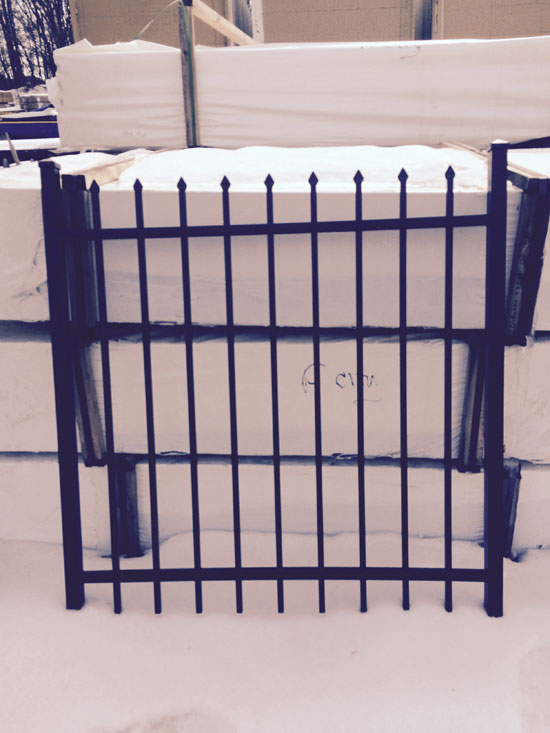 4 ft x 4 ft Aluminum Gate 2 rail