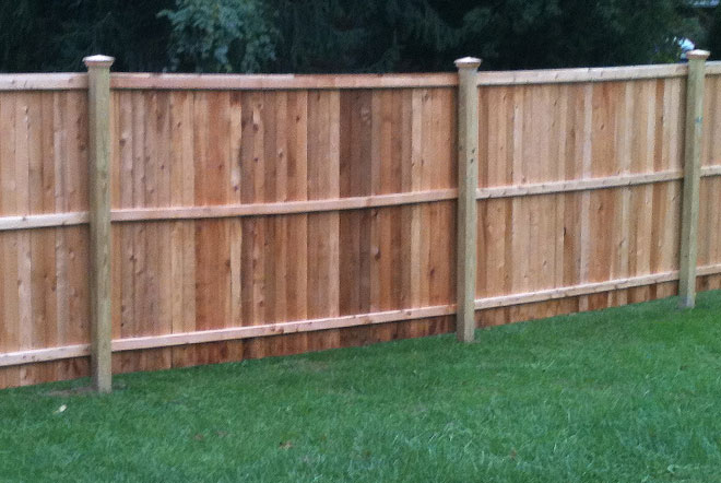 Fence City 60 Quot Flat Top Solid Board Red Cedar