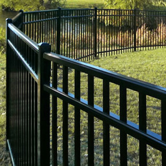 black vinyl fence panels. Plain Panels 48 Commercial  Ultra Aluminum UAF200 In Black Vinyl Fence Panels N