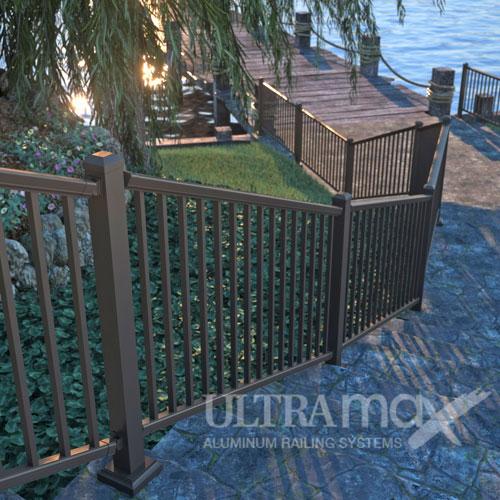 Fence City Ultramax Aluminum Railing System 36 Quot Tall