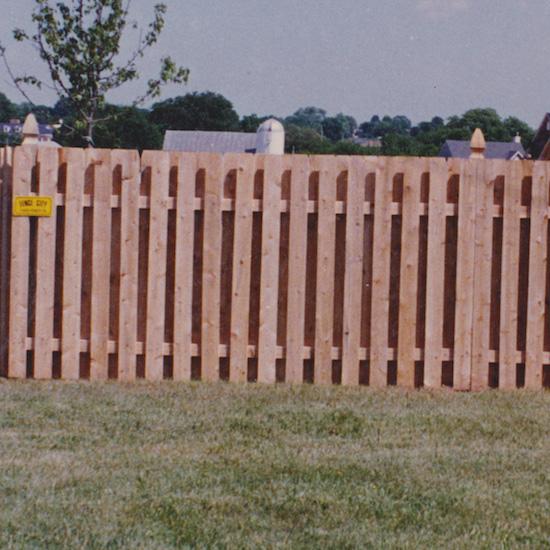 Fence city quot shadowbox red cedar